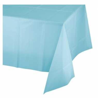 Lichtblauw plastic tafelkleed 137 x 274 cm