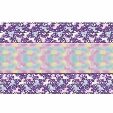 Eenhoorn themafeest tafelkleed 137 x 213 cm van plastic