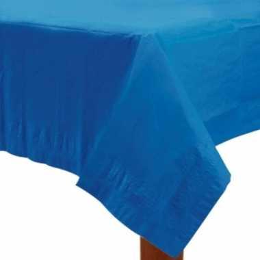 Plastic gekleurde tafellaken blauw