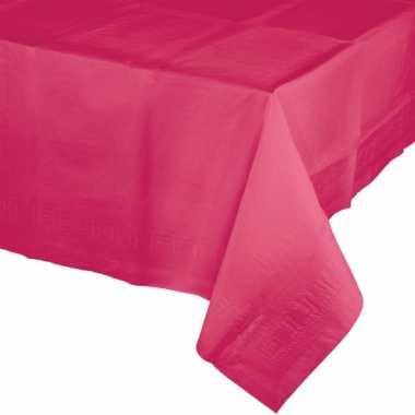 Plastic gekleurde tafellaken fuchsia roze
