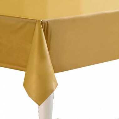 Plastic gekleurde tafellaken goud