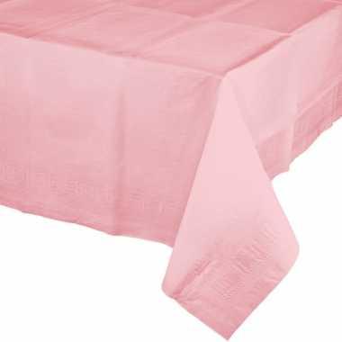 Plastic gekleurde tafellaken lichtroze