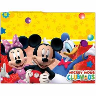 Plastic mickey mouse feestartikelen tafelkleed 120 x 180 cm