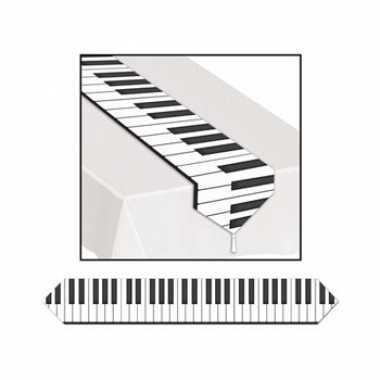 Plastic piano tafelloper plastic