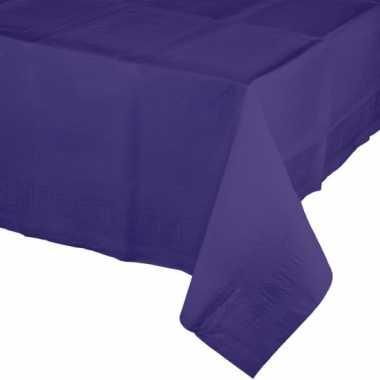 Plastic tafelkleedje in de kleur paars