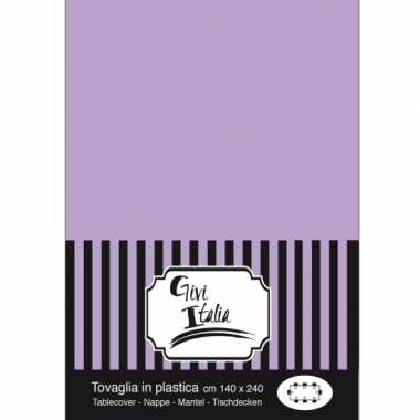 Plastic wegwerp tafelkleed lila paars140 x 240 cm