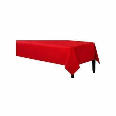 Plastic wegwerp tafelkleed rood 140 x 240 cm