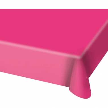 Tafelkleed van plastic fuchsia roze 130 x 180 cm