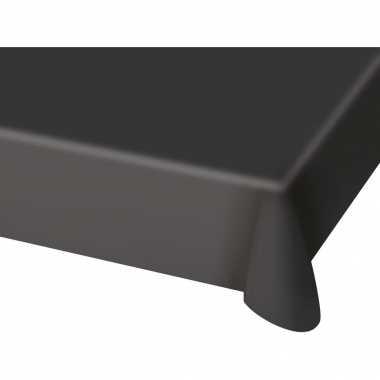 Tafelkleed van plastic zwart 130 x 180 cm