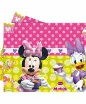 Plastic kinderfeestje minnie mouse tafelkleed 120 x 180 cm