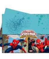 Plastic kinderfeestje spiderman tafelkleed 120 x 180 cm