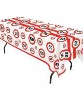 Plastic stopborden tafelkleed 50 jaar